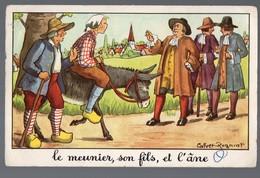 Fables De La Fontaine:Le Meunier Son Fils Et L'âne    (image De Calvet-Rogniat) Format CPA (PPP14428) - Old Paper