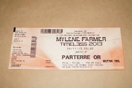 Mylène Farmer,Ticket Pour Collection,du 16/11/2013,parterre OR - Obj. 'Remember Of'
