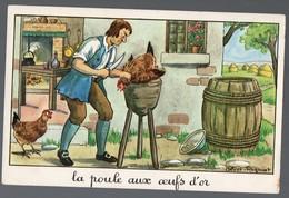 Fables De La Fontaine : La Poule Aux Oeufs D'or      (image De Calvet-Rogniat) Format CPA (PPP14430) - Old Paper