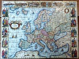 PUZZLE EUROPE  EN 1637- PAYS- CAPITALES- COSTUMES- NEUF SOUS BLISTER D'ORIGINE- - Puzzle Games