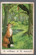 Fables De La Fontaine : Le Corbeau Et Le Renard (image De Calvet-Rogniat) Format CPA (PPP14434) - Old Paper