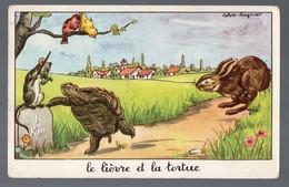 Fables De La Fontaine : Le Lièvre Et La Tortue (image De Calvet-Rogniat) Format CPA (PPP14435) - Old Paper