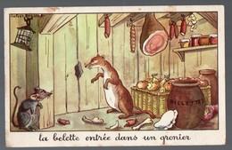 Fables De La Fontaine : La Belette Entrée Dans Un Grenier(image De Calvet-Rogniat) Format CPA (PPP14436) - Old Paper
