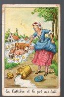 Fables De La Fontaine : La Laitière Et Le Pot Au Lait (image De Calvet-Rogniat) Format CPA (PPP14437) - Old Paper