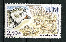 SPM MIQUELON 2005  PA N° 85 ** Neuf MNH Superbe C 10 € Faune Oiseaux Migrateurs Pluvier Siffleur Birds Animaux - Poste Aérienne