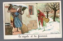 Fables De La Fontaine : La Cigale Et La Fourmi  (image De Calvet-Rogniat) Format CPA (PPP14439) - Old Paper