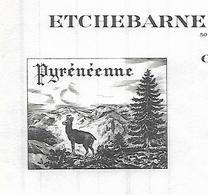 Facture 1962 / 64 OLORON-SAINTE-MARIE / ETCHEBARNE KOEHL DABADIE / Couvertures Et Molletons Pyrénéennes - 1950 - ...