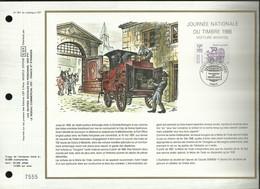 CEF N° : 901 . JOURNEE NATIONALE DU TIMBRE . FOURGON . 12 MARS 1988 . PARIS . - FDC