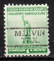 USA Precancel Vorausentwertung Preo, Locals Texas, Melvin 728 - Vereinigte Staaten