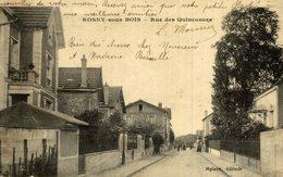 CLICHE RARE   ROSNY SOUS BOIS RUE DES QUINCONCES - Rosny Sous Bois