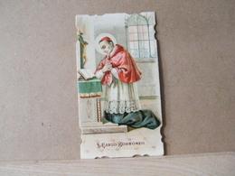 MONDOSORPRESA, (ST239) SANTINO, SANTINI,  SAN CAROLO BORROMEO, 1909 - Imágenes Religiosas