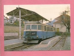 C.P. Digne  : Chemins De Fer  De La Provence  :  Autorail  Renault X 322  En  Gare  : Ligne  Nice  à  Digne - Digne