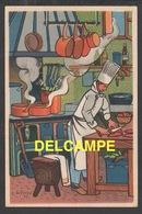 DD / ILLUSTRATEURS / RÉMY HÉTREAU / LE CUISINIER (1943) / CARTE VENDUE AU PROFIT DU SECOURS NATIONAL - Illustrators & Photographers