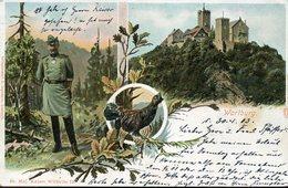 36984 Germany, Card Circuled From Eisenach 1903 Showing The Castle Of  Wartburg,mit Auerhahn,grouse - Eisenach
