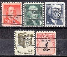 USA Precancel Vorausentwertung Preo, Locals Texas, Miami 835,5, 5 Diff. - Vereinigte Staaten