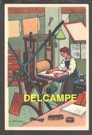 DD / ILLUSTRATEURS / RÉMY HÉTREAU / L' IMPRIMEUR (1943) / CARTE VENDUE AU PROFIT DU SECOURS NATIONAL - Illustrators & Photographers