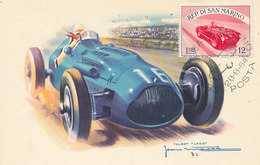 D34066 CARTE MAXIMUM CARD RR TRIPLE 1954 SAN MARINO - RACING CAR CP VINTAGE ORIGINAL - Cars