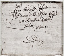 """1669 Letter From """"George Mason, Thornes (Kendal)"""" To """"Edward Wilson, Dallam Tower (Cumbria)"""". With A Postcard.  Ref 0571 - Autographs"""