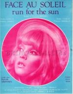 61 80 SYLVIE VARTAN FACE AU SOLEIL RUN FOR THE SUN JONES FRANCK GÉRALD 1968 PIANO GUITARE ORCHESTRE - Muziek & Instrumenten