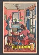 DF / ILLUSTRATEURS / RÉMY HÉTREAU / LA COUTURIÈRE (1943) / CARTE VENDUE AU PROFIT DU SECOURS NATIONAL - Altre Illustrazioni