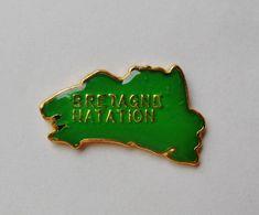 Pin's Carte De Bretagne Bretagne Natation - 18A - Badges
