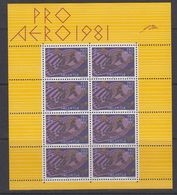 Switzerland 1981 Pro Aero 1v Sheetlet ** Mnh (40050) - Nuevos