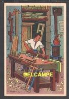 DD / ILLUSTRATEURS / RÉMY HÉTREAU / LE MENUISIER (1943) / CARTE VENDUE AU PROFIT DU SECOURS NATIONAL - Illustrators & Photographers