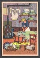 DD / ILLUSTRATEURS / RÉMY HÉTREAU / LA REPASSEUSE (1943) / CARTE VENDUE AU PROFIT DU SECOURS NATIONAL - Illustrators & Photographers
