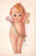 """08244 """"AUGURI BUON ANNO"""" BAMBINO, TRICOLORE, NR. 13, FIRMATA OLIVIERI. CART  SPED 1917 - Illustrators & Photographers"""
