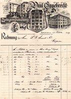 ALLEMAGNE BERLIN FACTURE ILLUSTREE DU 17/10/1907 PAUL EGGEBRECHT MEINGROSSHANDLUNG POUR MONNET & CO A COGNAC - Allemagne