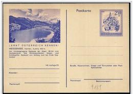 Austria/Autriche: Intero, Stationery, Entier, Lago Weissensee, Lake Weissensee, Lac Weissensee - Altri