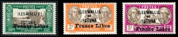 WALLIS ET FUTUNA 1941 - Yv. 113 119 121 NEUFS   Cote= 18,63 EUR - 3 Timbres Surch. France Libre  ..Réf.W&F22176 - Wallis And Futuna