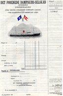 DANEMARK FACTURE ILLUSTREE DU 19/09/1951 SCANDINIAN AMERICAN LINE GEORG BESTLE POUR L DANGLADE & FILS LIBOURNE - Transport
