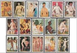 "0624 Guinea Equatoriale 1974 Nude Art Painting Modigliani Durer Matisse Picasso Stenlen Gauguin ""MAESTRI DEL NUDO"" - Guinea Equatoriale"