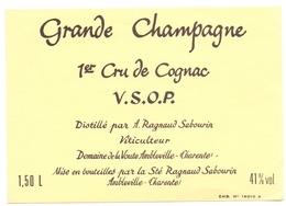Etiket Etiquette - Vin - Wijn - Grande Champagne - Cognac - VSOP - Marcel Ragnaud - Ambleville - Labels