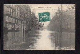 75 Paris / Crue De La Seine 1910 / Boulevard Haussmann - Inondations De 1910
