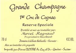Etiket Etiquette - Vin - Wijn - Grande Champagne - Cognac - Reserve Speciale - Marcel Ragnaud - Ambleville - Labels
