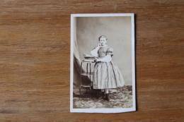 Cdv Second Empirejeune Fille Robe  Studieuse Par Prevot - Photos