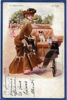 CPA Femme En Pied Girl Women Glamour Beauté Circulé Art Nouveau - Illustrators & Photographers