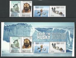 AAT 2014 - Le Husky (série + Bloc) - Australisches Antarktis-Territorium (AAT)