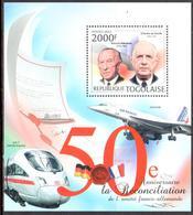 Togo 50e Ann Amitié Franco-allemande De Gaulle Adenauer Concorde ICE-T 2012 ** - Togo (1960-...)