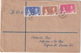 MONTSERRAT 1937 LETTRE DE PLYMOUTH - Montserrat