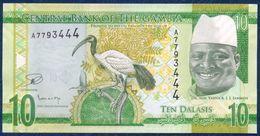 GAMBIA 10 DALASIS P-32 FAUNA ANIMALS BIRD 2015 UNC - Gambie