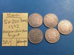 MAROC . 5 X 200 FRANCS 1372 - EMPIRE CHERIFIEN - ARGENT - Maroc