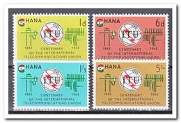 Ghana 1965, Postfris MNH, 100 Years ITU - Ghana (1957-...)