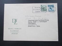 Schweiz 1949 Freimarken MiF Mit Altem Europa Stempel Gib Einen Tag Für Die Schweizer Europahilfe. Diana Verlag Zürich - Briefe U. Dokumente