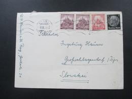 Böhmen Und Mähren 1941 Interessante MiF Mit Hindenburg Marke Auf Beleg In Die Slowakei. - Briefe U. Dokumente