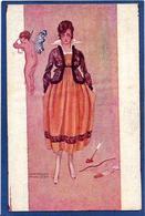 CPA Femme En Pied Girl Women Glamour Beauté Non Circulé Art Nouveau - Illustrators & Photographers