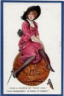 CPA Femme En Pied Girl Women Glamour Beauté écrite - Illustrators & Photographers
