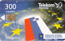 SLOVENIA SLOVENIJA PHONECARD 2004 ŠIRITEV EU POMLAD V EVROPI SPRING IN EUROPE TELEKOM CAT.NO. 561 - Slovenia